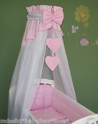 LOVELY  CANOPY DRAPE + HOLDER 4 BABY Crib/Craddle COT/COTBED/COT BED