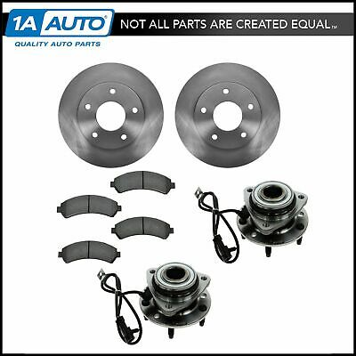 Wheel Hub Ceramic Brake Pad Rotor Front Kit for Chevy GMC Isuzu Olds 4WD