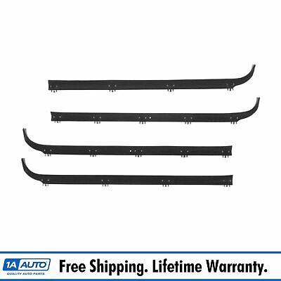 Inner & Outer Window Sweep Felts Seals Weatherstrip 4 Pc Kit Set for Ford Truck