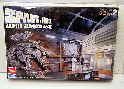 Vintage SPACE: 1999 ALPHA MOONBASE Model Kit- AMT/ERTL-Sealed/Unbuilt