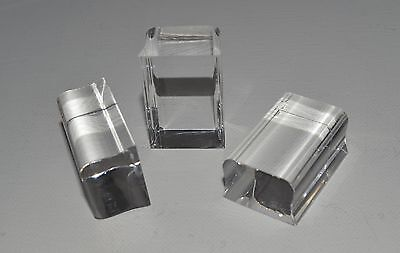 "3/4"" Contoured Rubber Stamp Clear Mount Acrylic Block 1x1.5 1x2.5 1x3.5  U PICK"
