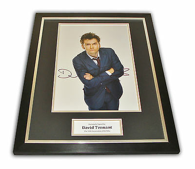 David Tennant SIGNED Framed Photo Genuine Dr Who AUTOGRAPH 16x12 Display + COA