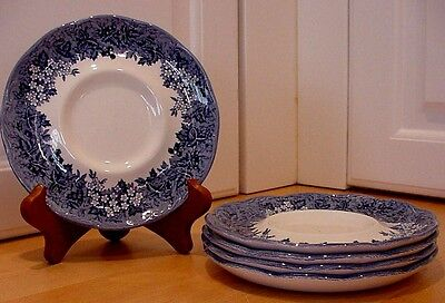 Meakin Romantic England Blue Saucers Anne Hathaways Cottage or Haddon Hall