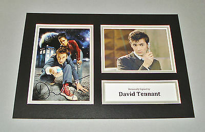 David Tennant SIGNED A4 Photo Display Genuine Doctor Dr Who AUTOGRAPH + COA