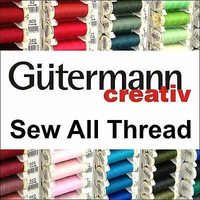 Gutermann Sew All Polyester Thread 100m Browns Reds Oranges Buy 2, 3rd @ 30% Off