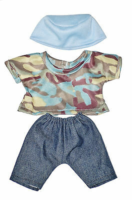 "BOY JEANS, TOP AND HAT  DOLL OUTFIT   FOR 10""  LOTS TO LOVE Baby  Doll"
