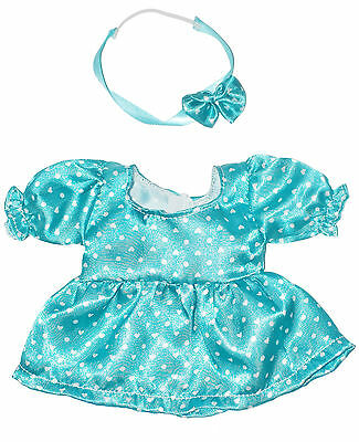 """GIRL POLKA DOT DRESS AND HEADBAND DOLL OUTFIT   FOR 10""""  LOTS TO LOVE  Doll"""