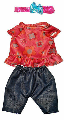 "GIRL  JEANS, TOP, HEADBAND DOLL OUTFIT    FOR 10""  LOTS TO LOVE Baby  Doll"