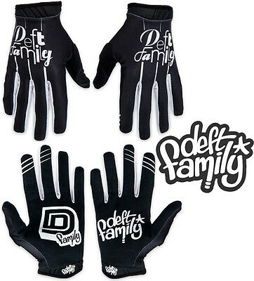 Deft Family Motocross MX Gloves Artisan Lucid Black White All Sizes bmx mtb bike