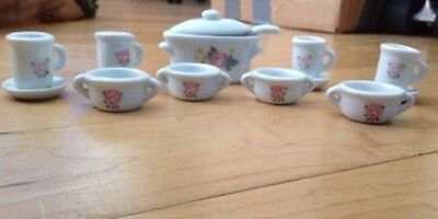 Collectors Miniature Glass Teacup Set 15 Piece