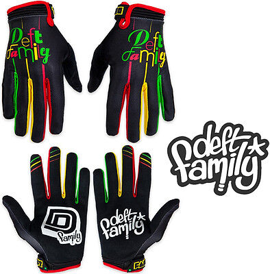 Deft Family Motocross MX Gloves Catalyst 2 Lucid Rasta All Sizes bmx mtb bike