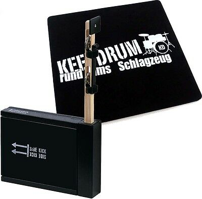 Schlagwerk SET 75 Heck Stick /Side Kick + keepdrum  Cajon Pad