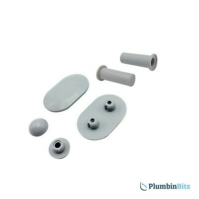 IDEAL STANDARD REPLACEMENT ALTO HALO WC SEAT BUFFERS & SLEEVES EV03867 GREY Mk1