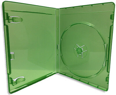 Single =XBOX ONE= 12mm Translucent Green Replacement Game Case 10-Pak