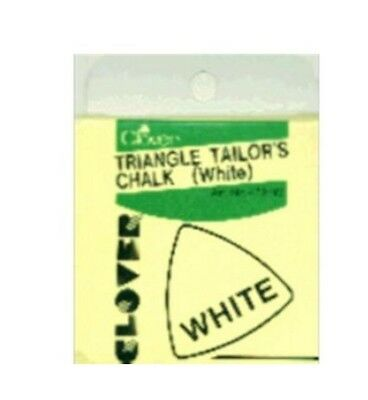 Clover 432w Triangle Tailor's Chalk White Fabric Marker Sewing NEW