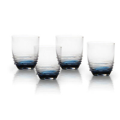 Mikasa Cobalt Double Old Fashioned Glasses, Set of 4 Swirl