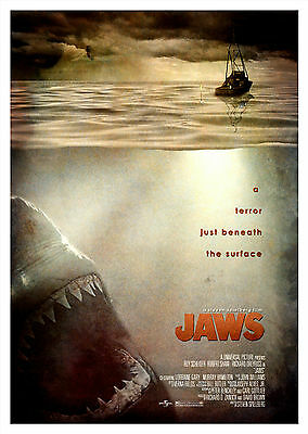 Jaws (1975) - A1/A2 Poster **BUY ANY 2 AND GET 1 FREE OFFER**