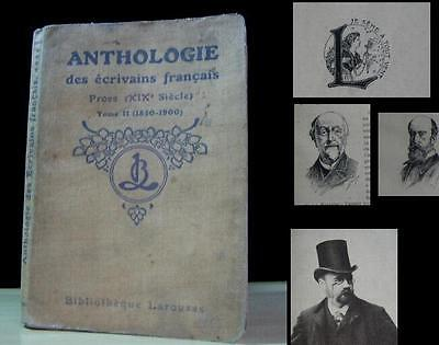 Antique 1850-1900 Book – Anthology Of French Prose