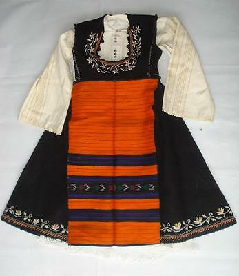 19C. Antique Bulgarian Folk Art Traditional Costume Rare