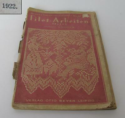 1922 Antique German Crochet Knitting & Embroidery Magazine - Leipzig