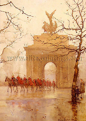 Barton Rose Maynard Hyde Park Corner  Household Cavalry artist painting canvas