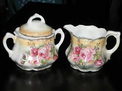 Vintage LEUCHTENBURG Germany fine china cream & sugar bowl porcelain set