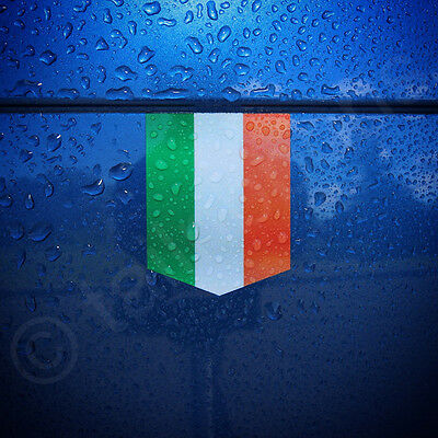"Flag of Ireland sticker - 1 3/8"" x 1 3/4"" - car decal Irish badge vinyl emblem"