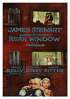Rear Window (1954) - A1/A2 Poster **BUY ANY 2 AND GET 1 FREE OFFER**