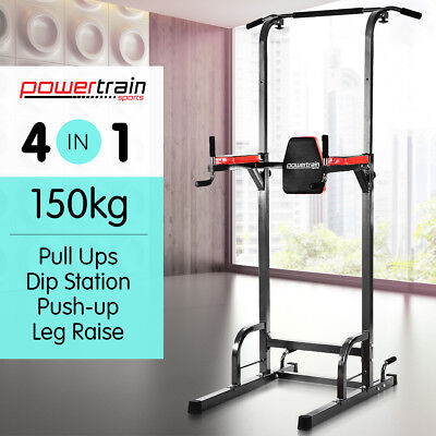 Knee Raise Power Tower Chin Up Dip Station Push Pull Up Multi Home Gym Exercise