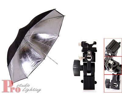 Photo Studio Photography Lighting Light Stand Mount+ Reflector Black Umbrella AU