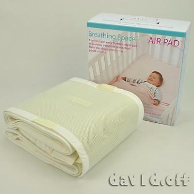 Sweet Dreams Breathing Space Infant Baby Air Pad Cot Bumper Mesh Protection BEI