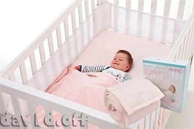 Sweet Dreams Breathing Space Infant Baby Air Pad Cot Bumper Mesh Protection PNK