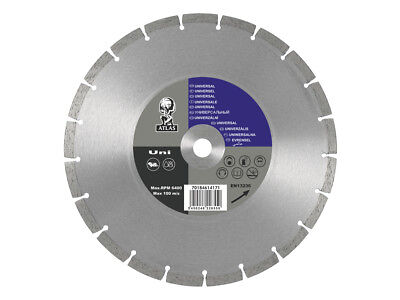 "12"" Atlas Diamond Cutting Blade Disc. 300 X 20Mm Fits Stihl Ts350 Ts400 Ts410"