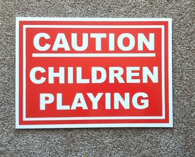 Caution, Children Playing Sign.  Road Safety.  (PL-40)