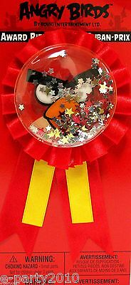 ANGRY BIRDS GUEST OF HONOR RIBBON ~ Birthday Party Supplies Favors Award Pin