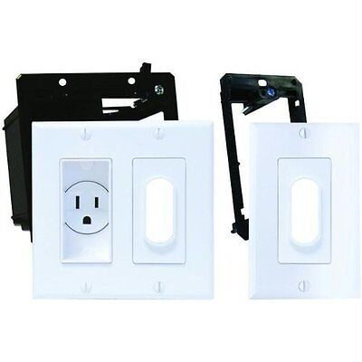 Midlite 2a4641-1g-w Dcor Recessed Receptacle Kit & Wireport[tm] With (2a46411gw)