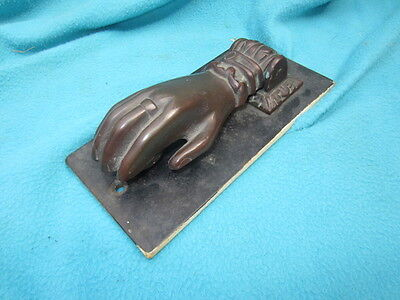 Bronze Hand Door Knocker Victorian Antique