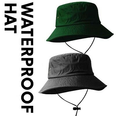WATERPROOF HAT with brim -Fishing/Hiking/Hunting/Walking-ONE SIZE-RED/GREEN/GREY