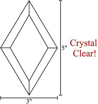 3x5 Diamond Bevels for Stained Glass - Clear (5)