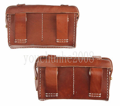 Pair Of Ww2 Japanese Type 99 Front Ammo Leater Pouch Case -33916
