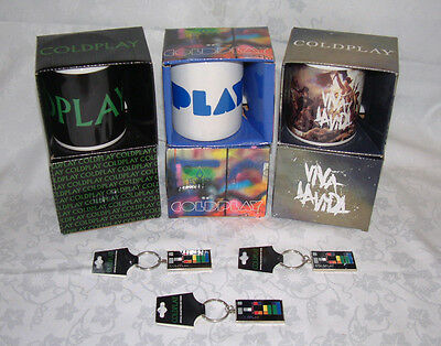 Coldplay - Official Merchandise – Mugs & Keyring - New