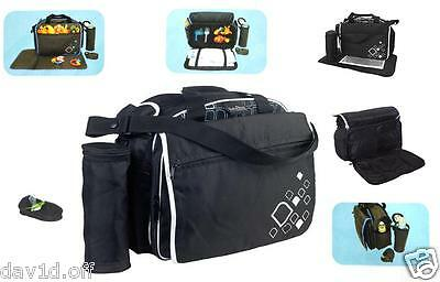 All In 1 Nappy Travel Bag Baby Changing Carry Handbag w/ Thermal Bottle Holder
