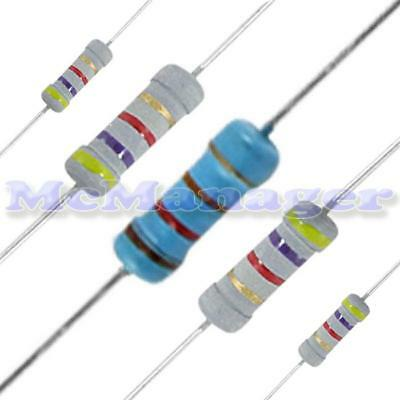 100ohm-1M ohm Various Value Resistors In 1W-2W  Power 5%  (Pack of 5)