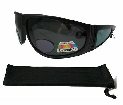 Bifocal Sunglasses Polarised Fishing Sports Wrap Around 100% UV Protection