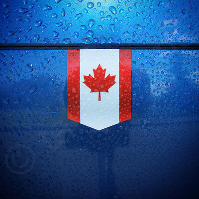 "Flag of Canada sticker - 1 3/8"" x 1 3/4"" - car decal Canadian emblem badge vinyl"