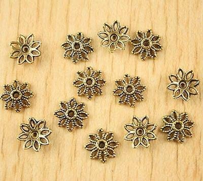 100pcs dark gold-tone daisy flower charm findings h1331