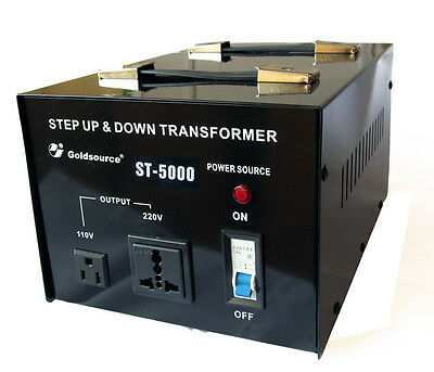 Goldsource 5000 Watt Step Down Step Up Voltage Converter Transformer UK->US->UK