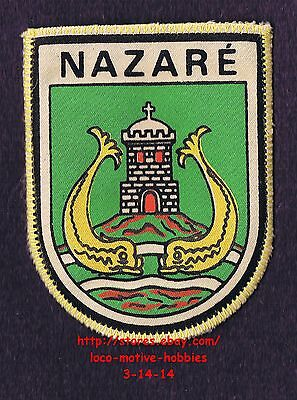 LMH PATCH Badge NAZARE Castle Cross Fish COAT ARMS Praia Sitio Pedemeir PORTUGAL