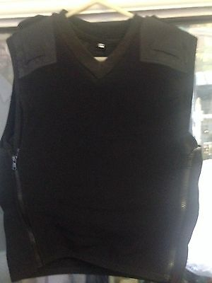 Stab Proof Security Doorman Body Armour Black L- XL Kevlar Not Bullet Sweater St