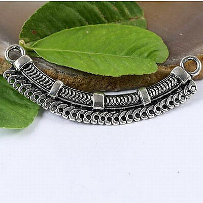 5pcs Tibetan silver crafted Connector Charms H1150